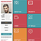 Responsive Personal vCard Template
