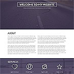Responsive One Page HTML Template
