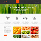 Agriculture Website Design Template
