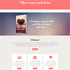 Writing Books Site Template
