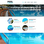 Pool Web Site Template