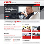Valet Parking Web Template