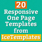 20 Premium Responsive One Page Templates