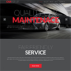 Repair Automobiles Web Page Template