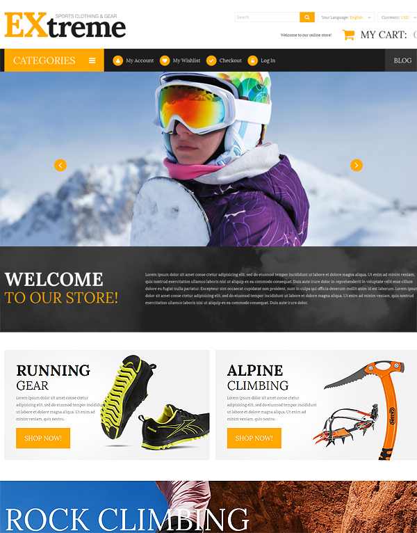 Extreme Sport Closing Template For Magento