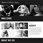 Model Agency Web Page Template