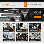 Steel Center Web Site Template