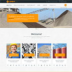 Cement Products Web Template