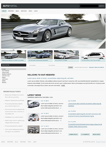 Cars Portal Drupal Template