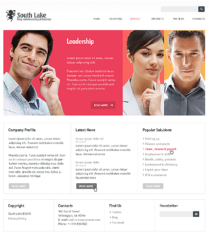 Leading Business Company Joomla Theme