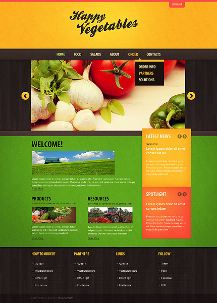 Happy Vegetables Drupal Theme