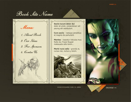 Dragon & Elf flash template