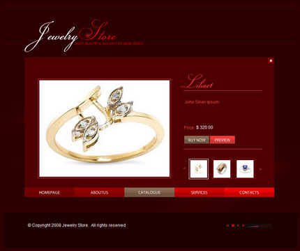 Jewellery store XML flash template