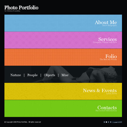 Digital photo gallery CMS v2 flash template