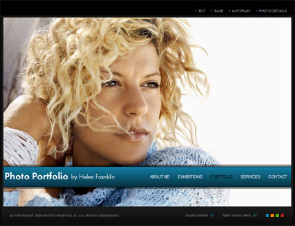 Photographer website CMS v2 flash template