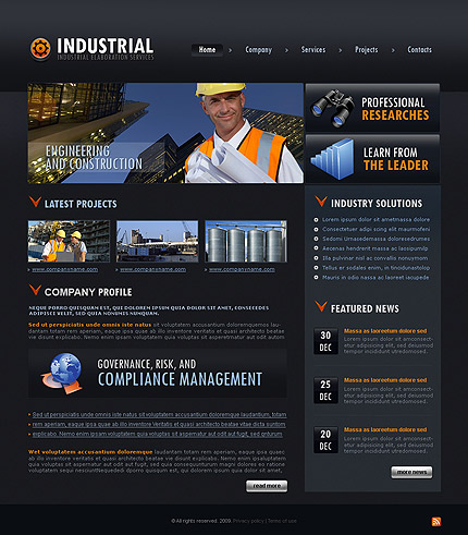 Industrial services CSS template