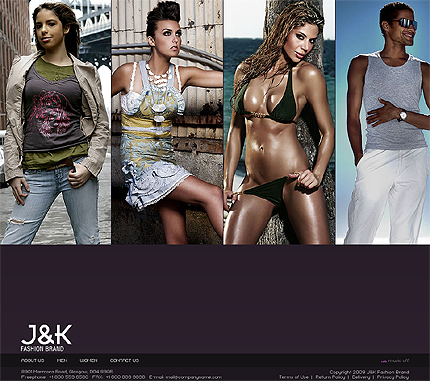 Fashion brand ecommerce XML flash template