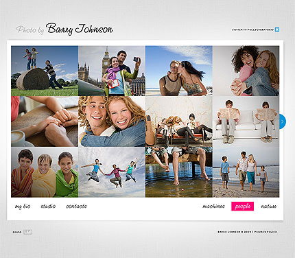 Photographer FlashMoto CMS Template