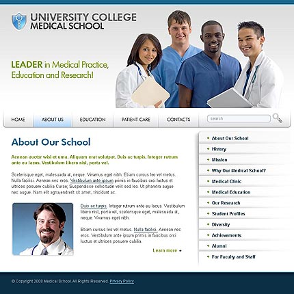 Medical school CSS template