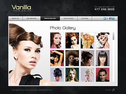 Vanilla hair XML gallery flash template