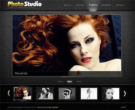 Full XML photo studio flash template