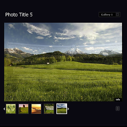 Image rotator flash gallery with CMS