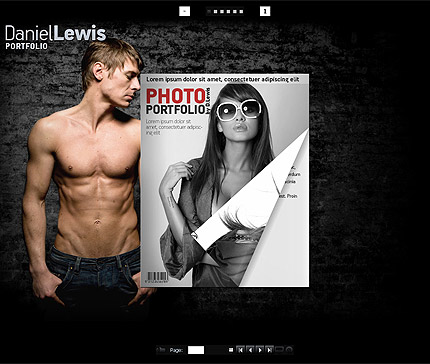 Photo flip book Flash CMS template