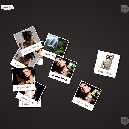 Photo slides gallery Flash CMS portfolio