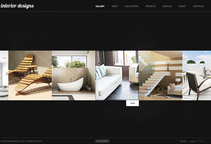 Interior flash CMS template