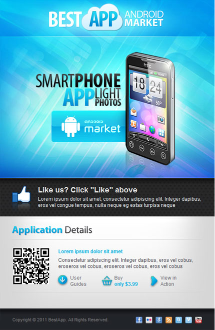 Android Application Facebook Template