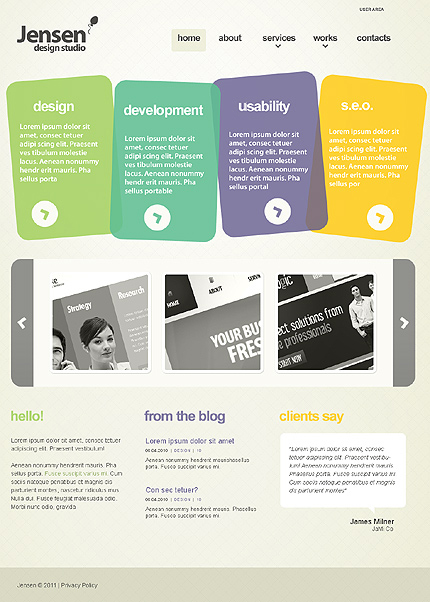 Web design development joomla theme