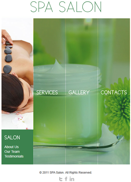 Spa salon facebook template