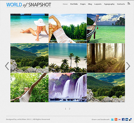 Photo blog Wordpress portfolio theme