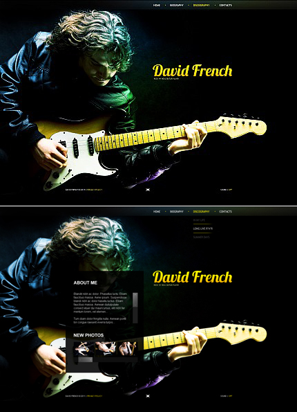 Guitar Player Flash CMS