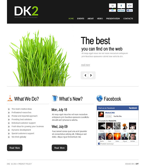 Clean Business Flash CMS Site