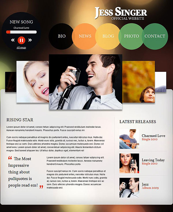 Singer Drupal Theme