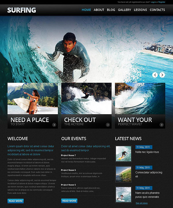 Surf School Drupal Theme