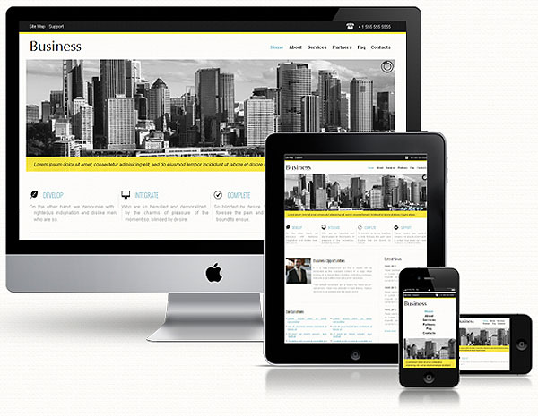Corporate Responsive Website Template