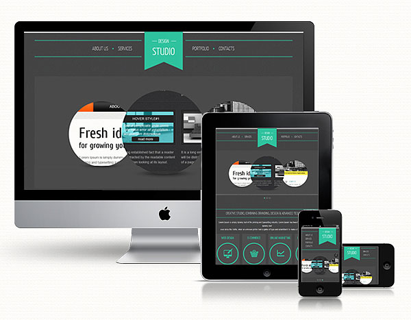 Design Studio Responsive Web Template