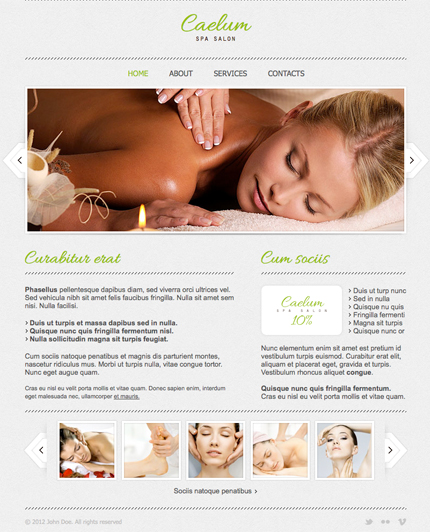 Spa Salon Timeline Facebook Template