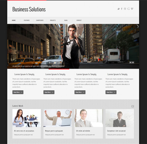 Business Solutions Responsive Site Template