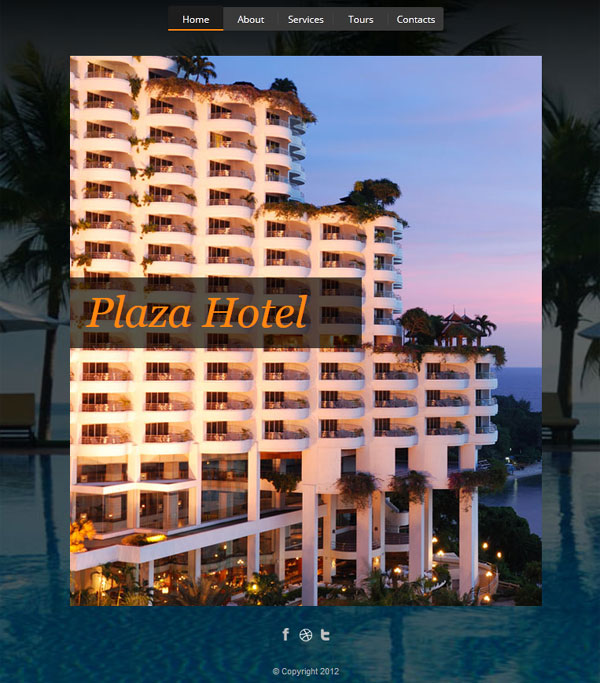 Plaza Hotel FlipBook HTML5 Template
