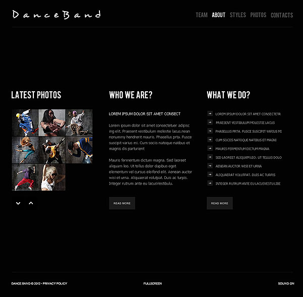 Dance Flash CMS Template