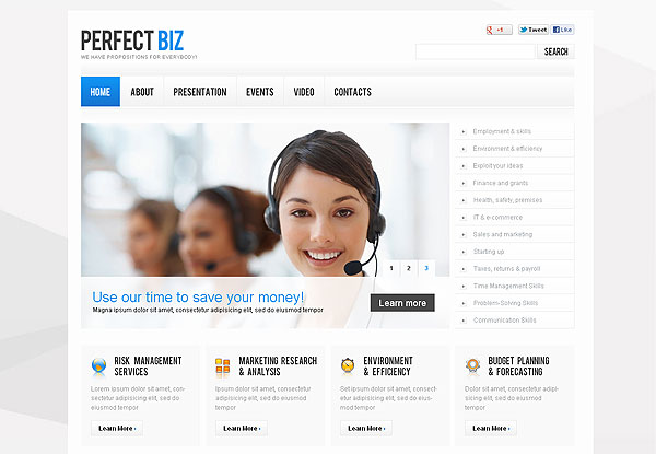 Corporate Marketing Flash CMS Template