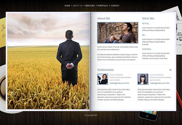 Photographer Portfolio HTML5 FlipBook Template