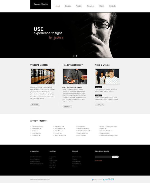 Legal Help Responsive Website Template