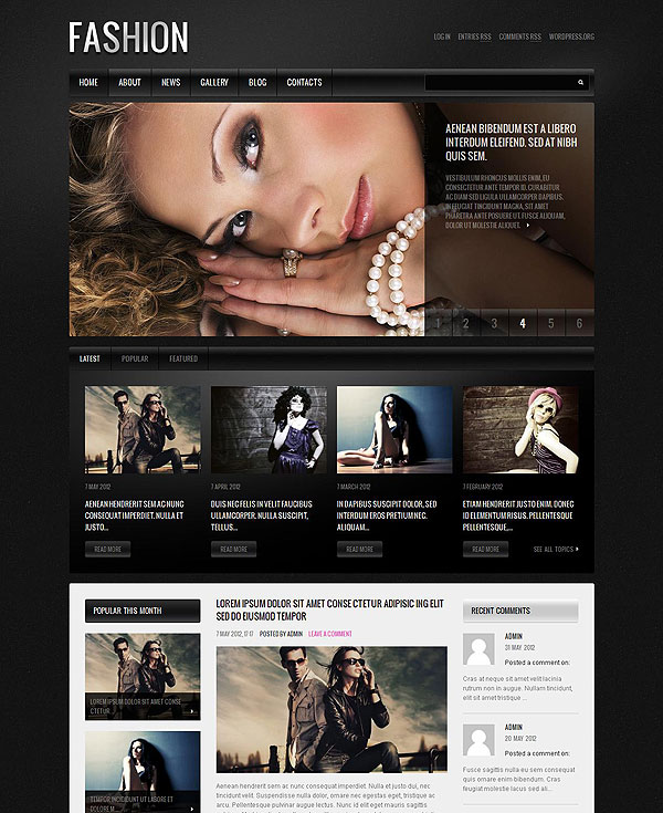 Fashion Magazine Theme For Wordpress