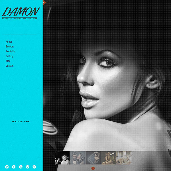 Photo Album Premium Website Template