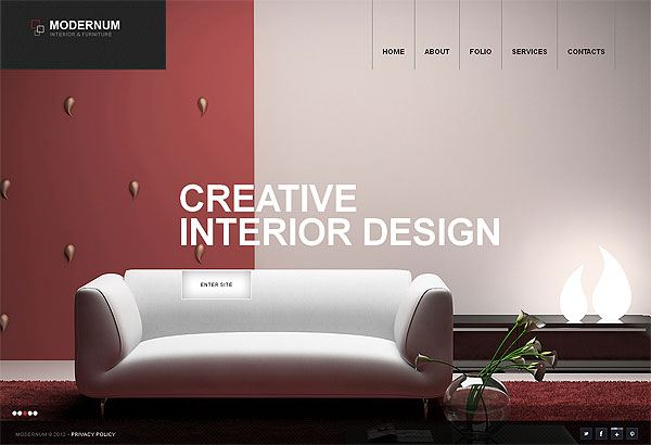Creative Interior Wordpress Template