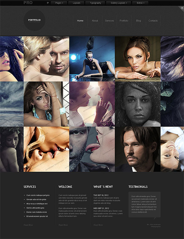Pictures Photo Site Template